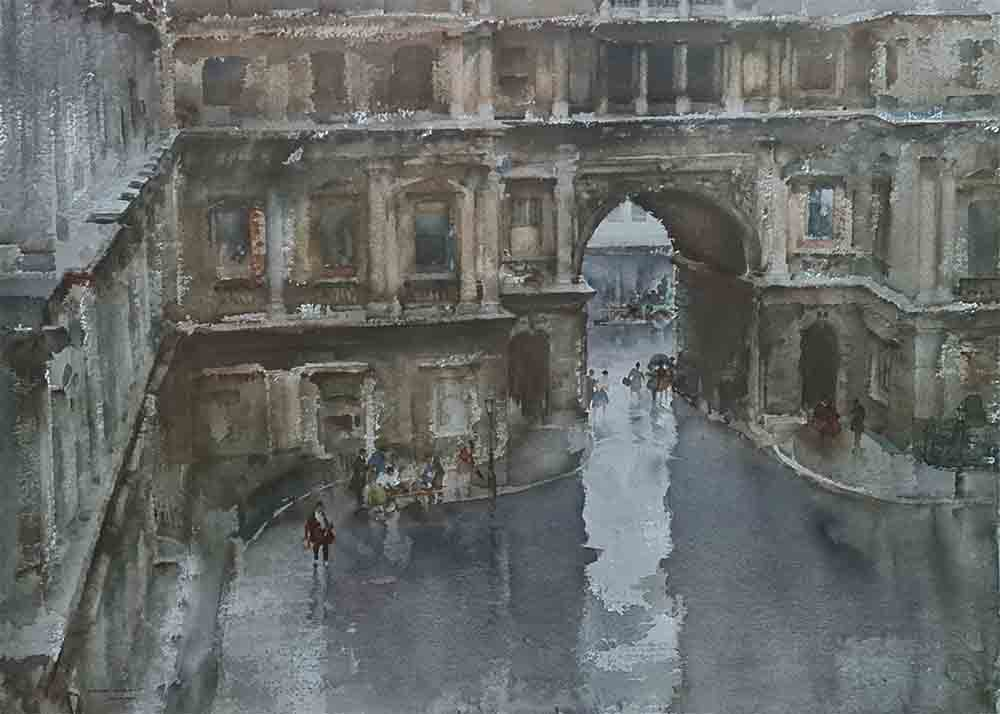 sir russell flint, the Royal Academy Courtyard, limited, edition, print