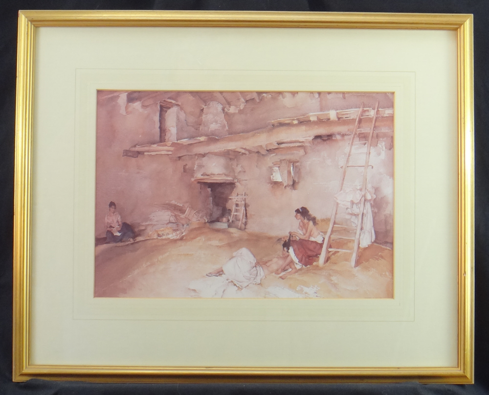 sir william russell flint, scrap of newspaper, framed print