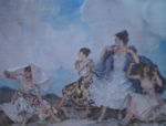 sir william russell flint The Shower signed limited edition print