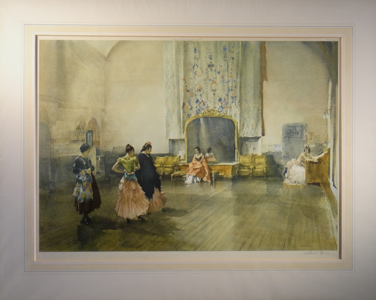 russell flint, signed, limited edition, print, argument on the ballet