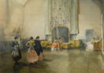sir william russell flint argument on the ballet, signed limited edition print