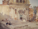 sir william russell flint Campo San Trovaso signed limited edition print