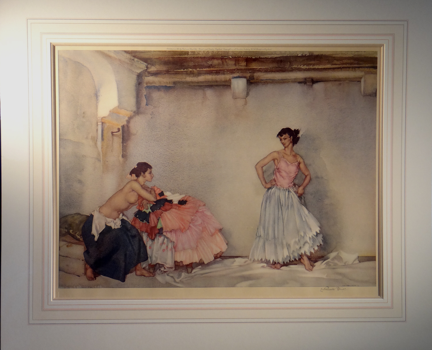 signed limited edition print, Casilda's White Petticoat, sir william russell flint