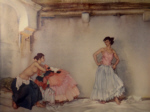 sir william russell flint, casilda's white petticoat, signed limited edition print