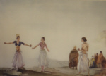 sir william russell flint, castanets, signed limited edition print