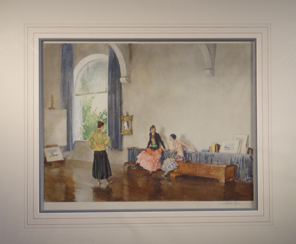 russell flint, signed, limited edition, print, conversation piece