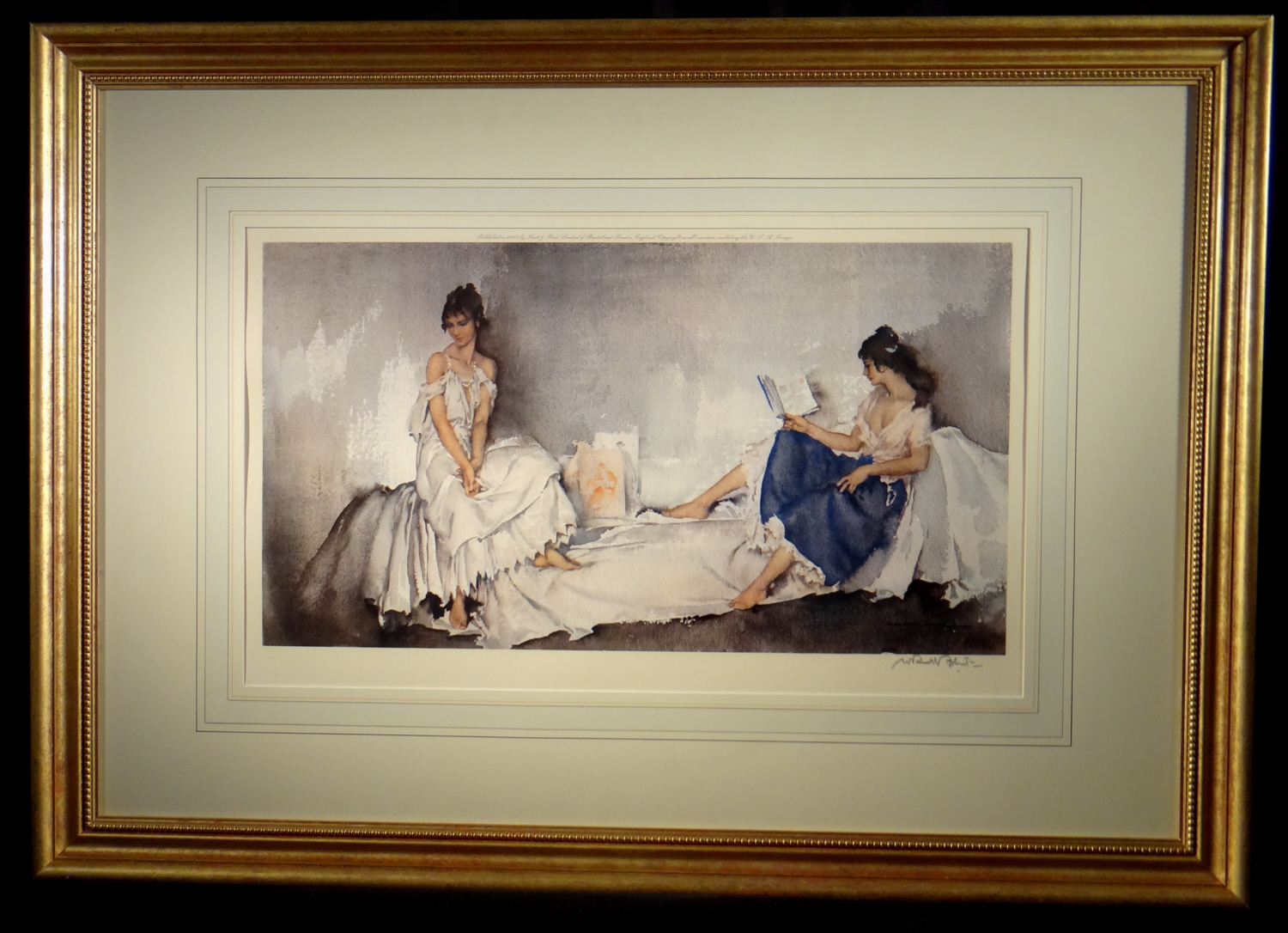 russell flint, the interlude, signed limited edition, print