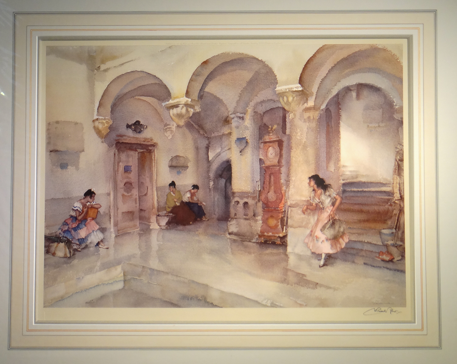 russell flint, la marie Manosque, signed limited edition print