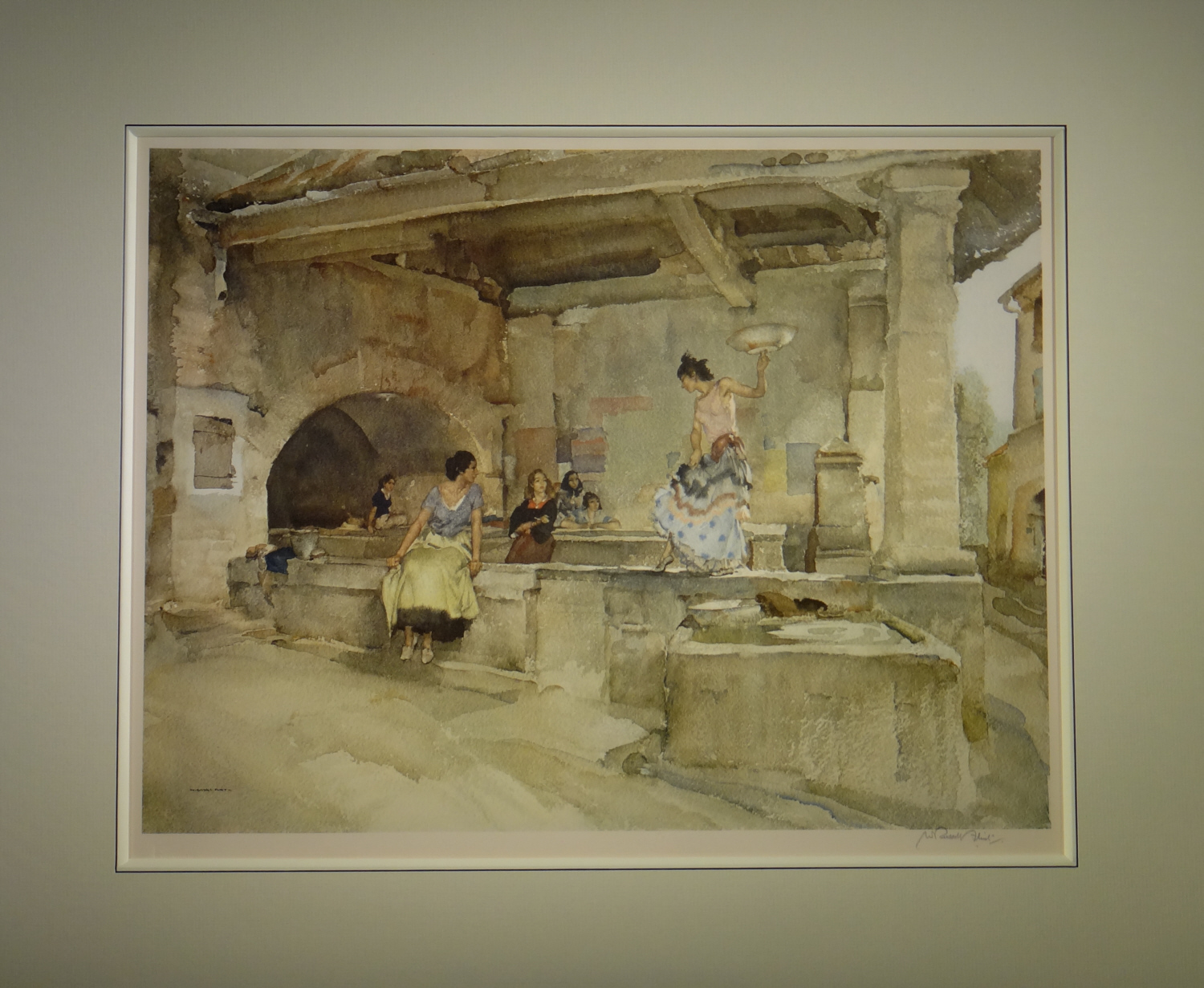 russell flint, provencal caprice, signed limited edition print
