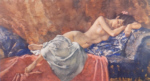 sir william russell flint Reclining Nude II signed limited edition print