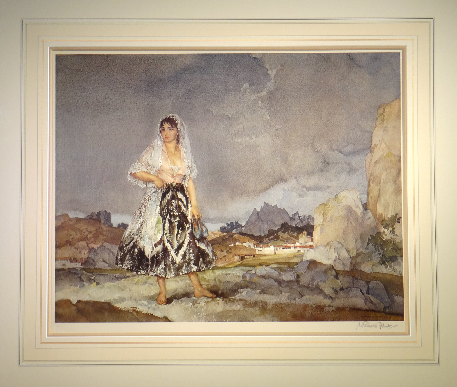 russell flint, Rosalba, signed limited edition print