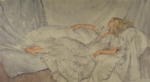 sir russell flint, the Silver and White, print