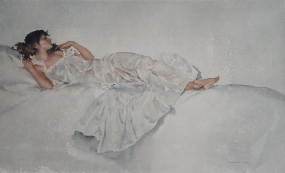 russell flint, study in white, print