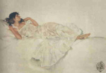 sir russell flint, Study in White, print