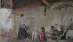 sir william russell flint Tale Bearer signed limited edition print