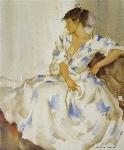sir william russell flint Terisitas flowery robe calendar print