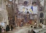 sir william russell flint town flag Sospel calendar print