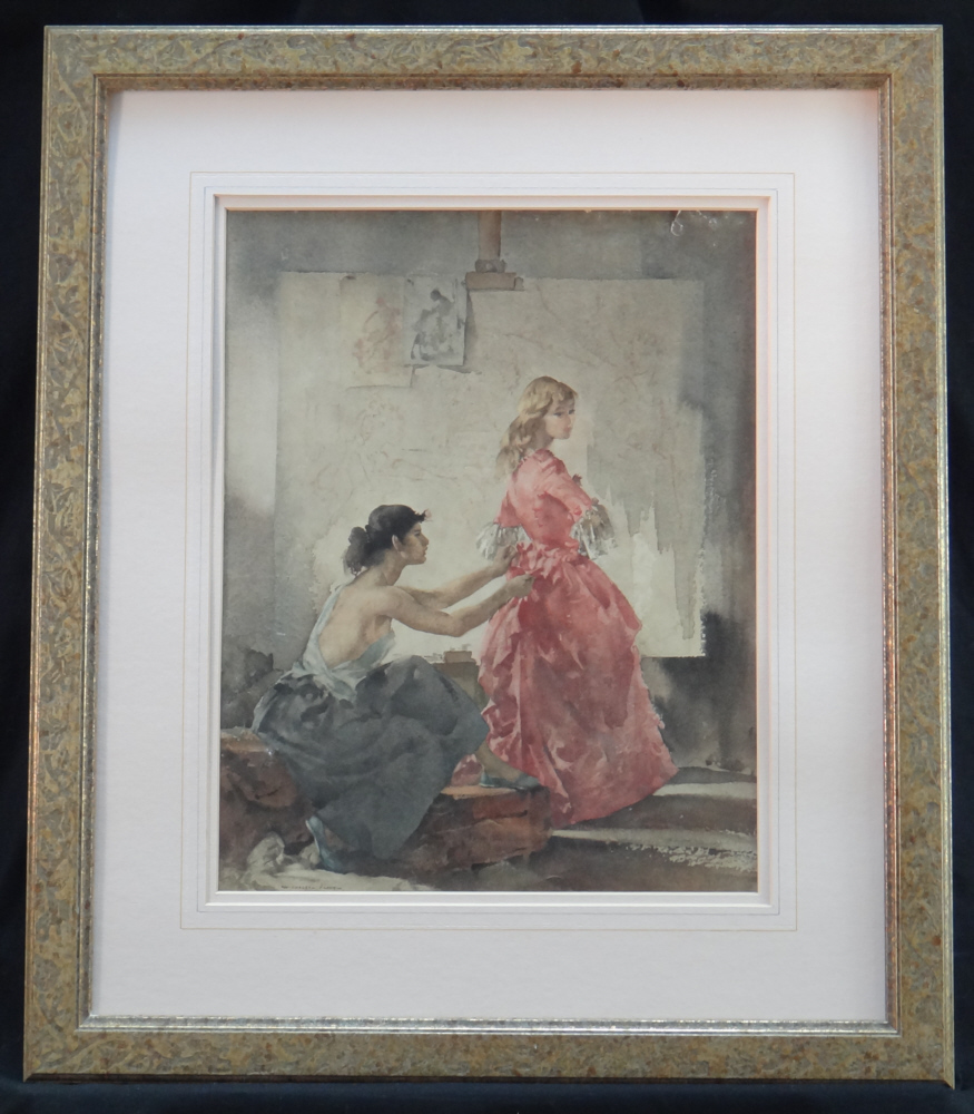 sir william russell flint, two models, framed print
