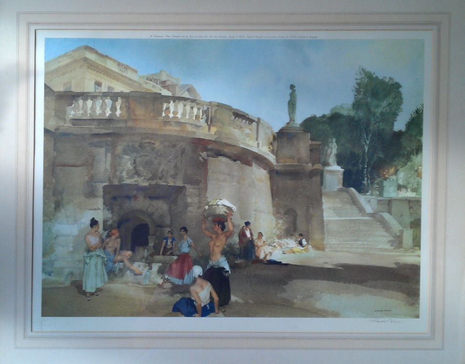 russell flint under the palace terrace, print