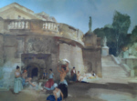 sir william russell flint under the palace terrace Compiegne signed limited edition print