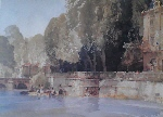 sir william russell flint, Under the terrace, Brantome, limited edition print