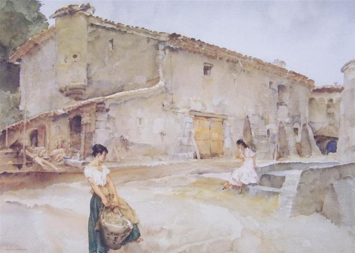 sir william russell flint unexpected Spaniard print