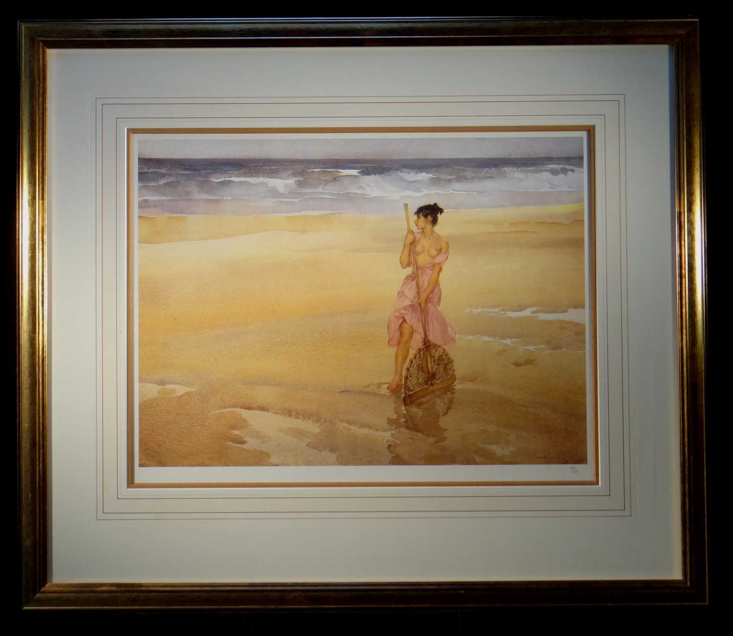 limited edition print, unsuccessful shrimper, sir william russell flint