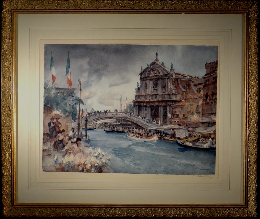 russell flint, Venetian Festival, print