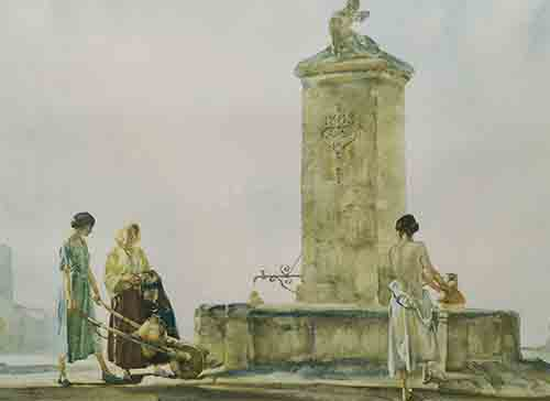 sir william russell flint The Whispering Well signed limited edition print