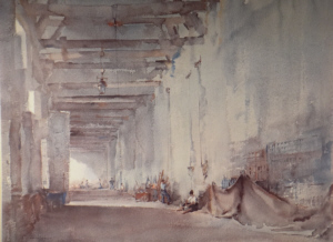 sir william russell flint white interior Chateauneuf sur Loire signed limited edition print
